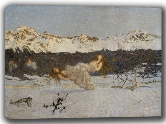Segantini, Giovanni: The Punishment of Lust. Fine Art Canvas. Sizes: A4/A3/A2/A1 (002232)